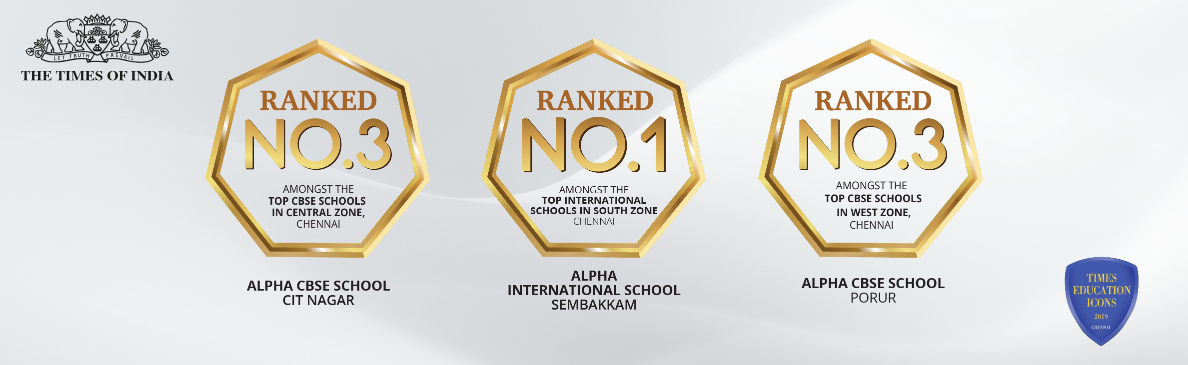 Times of India Education Icon Rank 2019